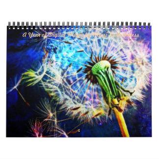 """""""Un año de magia de Digitaces de Missi Lynn Boness Calendarios De Pared"""