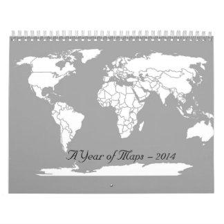 Un año de mapas calendario