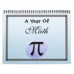 Un año de matemáticas calendario