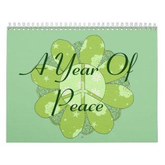 Un año de paz calendario de pared
