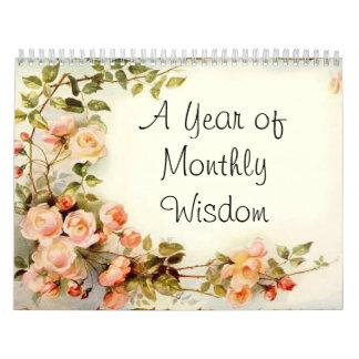 Un año de sabiduría mensual, el personalizado calendarios de pared