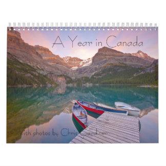 Un año en Canadá calendario de 12 meses