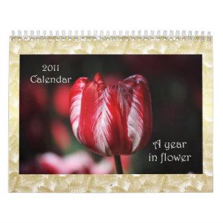 Un año en el calendario 2011 de la flor