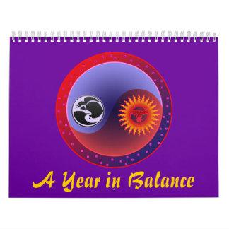 Un año en equilibrio Yin Yang calendario de 15 mes