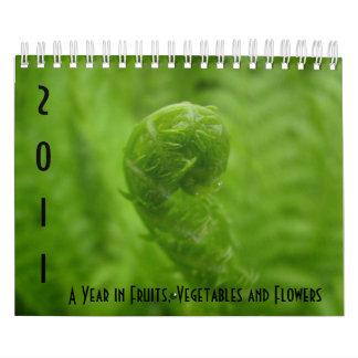Un año en frutas, verduras y flores calendarios