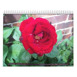 Un año en rosas calendario de pared