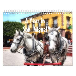 Un año en San Miguel de Allende, México, calendari Calendario