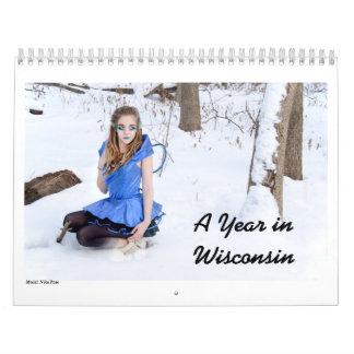 Un año en Wisconsin Calendario De Pared