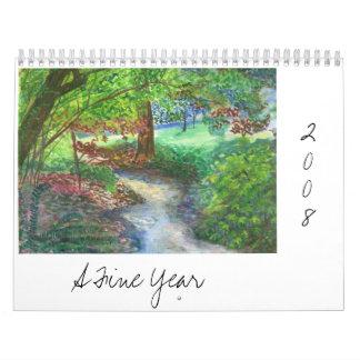 Un año fino calendario de pared
