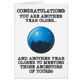 Un año más cercano tarjeta de felicitación