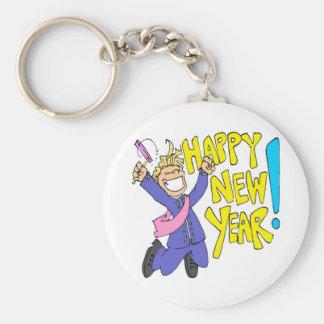 Un Año Nuevo Llavero Redondo Tipo Pin