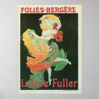 Un anuncio más lleno de Loïe del arte del vintage Póster