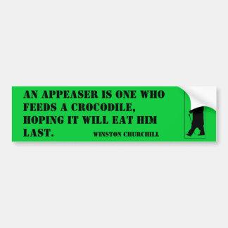 Un aplacador es uno quién alimenta un cocodrilo, e etiqueta de parachoque