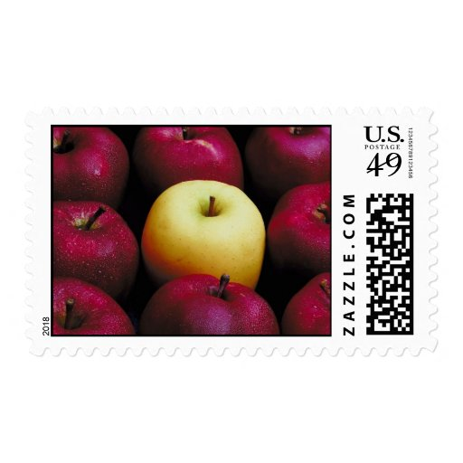 Un Apple verde Timbres Postales