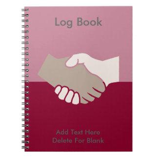 Un apretón de manos es bueno spiral notebook