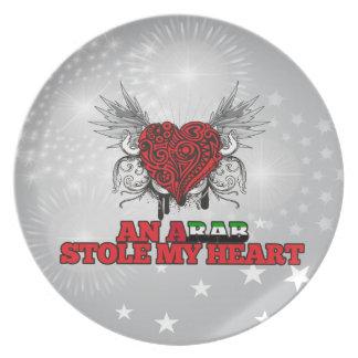 Un árabe robó mi corazón plato para fiesta