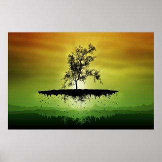 Un árbol 3 del vuelo póster