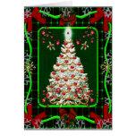 Un árbol de navidad blanco con una estrella muy br felicitación