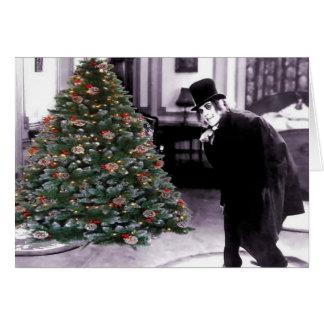 Un árbol de navidad después de Mignight Tarjeta De Felicitación