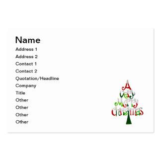 Un árbol de navidad muy feliz del error tarjetas de visita grandes