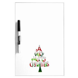 Un árbol de navidad muy feliz pizarras