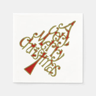 Un árbol de navidad muy feliz + su backgr. y ideas servilletas desechables