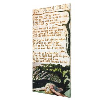 Un árbol del veneno, de canciones de la experienci lienzo envuelto para galerías