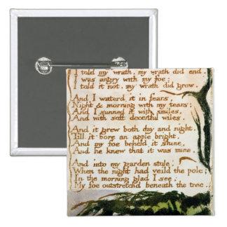 Un árbol del veneno, de canciones de la experienci pin cuadrada 5 cm