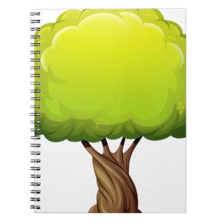 Un árbol gigante viejo cuaderno