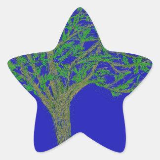Un árbol pegatina en forma de estrella