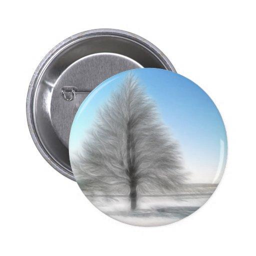 Un árbol perfecto del invierno intenso pins