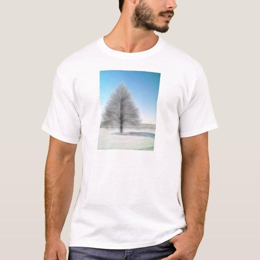 Un árbol perfecto del invierno intenso playera