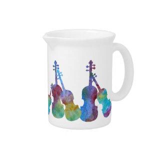 Un arco iris de violines jarra
