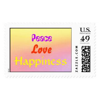 Un arco iris del sello de la paz, del amor y de la