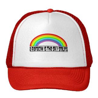 Un arco iris es la sonrisa del cielo gorros
