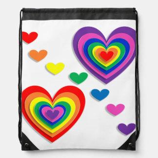 Un arco iris para mi tarjeta del día de San Mochilas