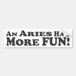 ¡Un aries se divierte más! - Pegatina para el para Pegatina Para Auto