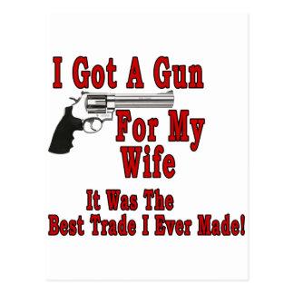 Un arma para mi esposa postales