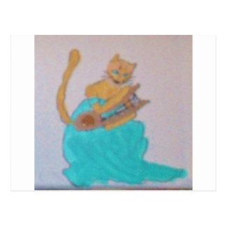 Un arpista felino postales