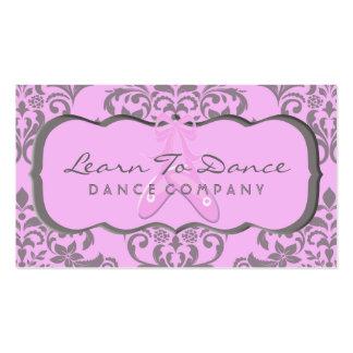 Un arsenal dulce de rosa y de gris tarjetas de visita