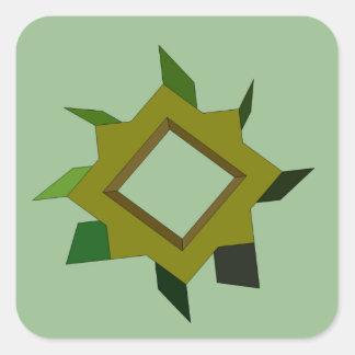 Un arte y un diseño verdes de CricketDiane de la Pegatina Cuadrada