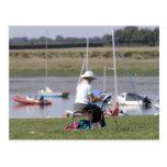 Un artista en el puerto de Bosham, Sussex del Postales