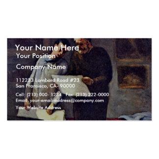 Un artista joven recibe consejo de Daumier Honoré  Tarjetas De Visita