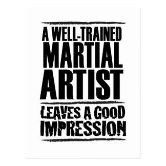 Un artista marcial bien entrenado postal