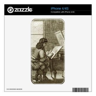 Un artista que copia sobre una placa del grabado,  iPhone 4S skins