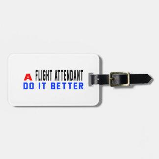Un asistente de vuelo mejora etiqueta para equipaje