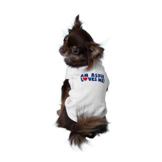 Un Aspie me ama camiseta del perro Ropa De Perros