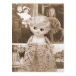 Un asunto de la muñeca del vintage tarjetas postales