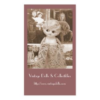 Un asunto de la muñeca del vintage tarjetas de visita