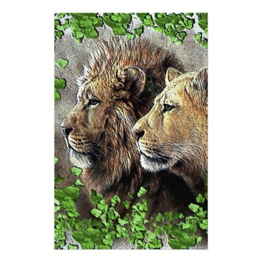 Un asunto del león papelería